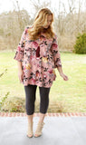 Kindness Counts Floral Tunic (available in 2 colors)