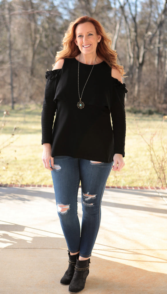 Paths Crossed Top (available in several colors)