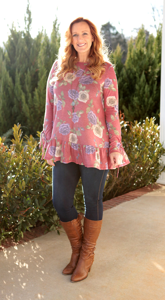 Fading Flowers Top (available in 2 colors)