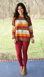 For The Love Of You Stripe Sweater (available in 2 colors)