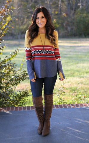 Annsley Color Block Sweater