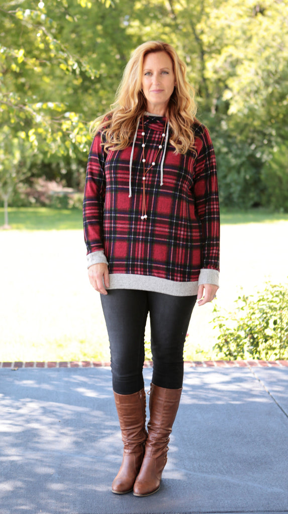 Wrapped in Plaid Pullover (2 colors)