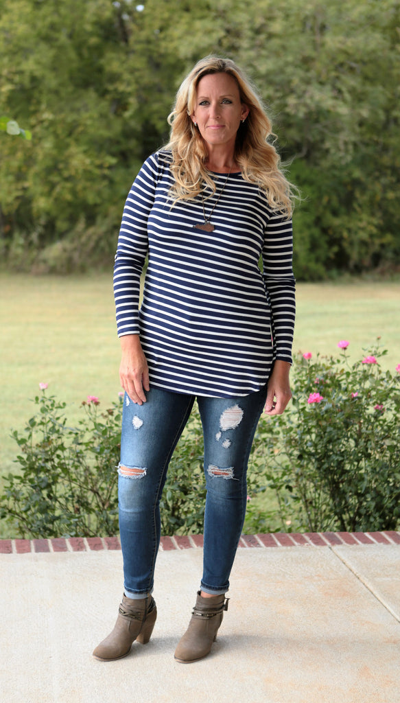 Eden Stripe Tunic (available in several colors)