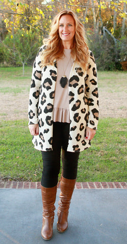 Leopard Cardigan (available in 3 colors)