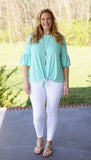 Ruffle Sleeve Tie Top (available in several colors)