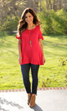 Cold Shoulder Solid Tops