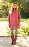 Curvy Key Hole Tunic (available in several colors)