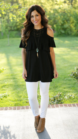 Cassie Cold Shoulder Top