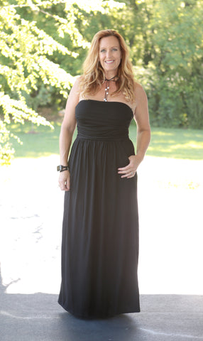 Stella Strapless Maxi Pocket Dress (available in several colors)
