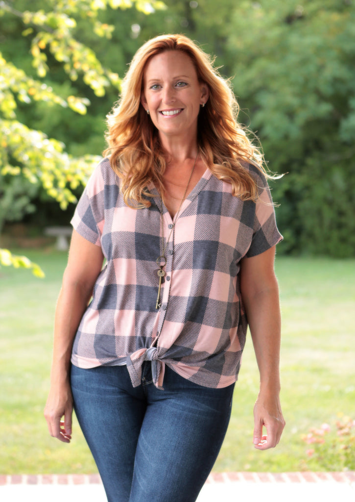 Buffalo Plaid Top (available in 2 colors)