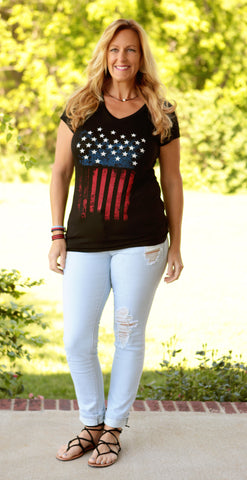 Patriotic Flag Tee & Tank Top