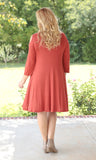 Curvy Ravenous in Rust Dress