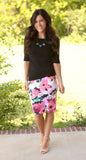 Floral Pencil Skirt (available in several colors)