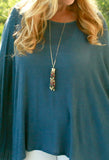 Stone Bracelet & Tassel Necklace