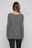 Black Stripe Top