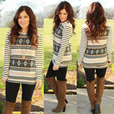 Fair Isle Snowflake Top