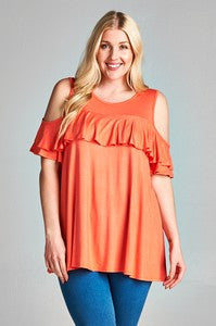 Chloe Cold Shoulder Top (S-3XL)