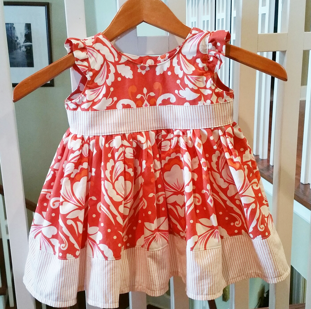 Life's A Flutter Dress ~ Handmade by Paper Dolls (size 2T)