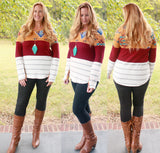 Aztec Colorblock Top (available in several colors)
