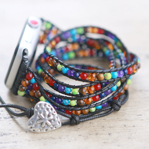 Lulu Wrap Beaded Apple Watch Band