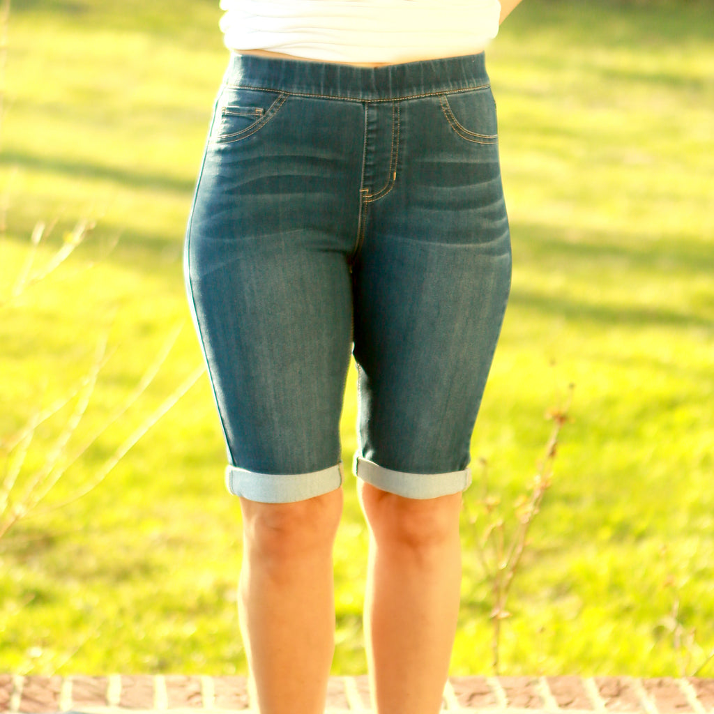 Bermuda Denim Stretch Shorts