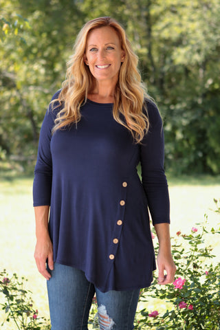 Bella Button Tunic (S-3XL)