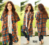 Plaid Blanket Kimono (available in several colors)