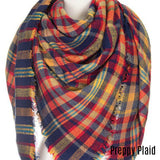 Kid's Plaid Infinity Scarves (available in several colors)