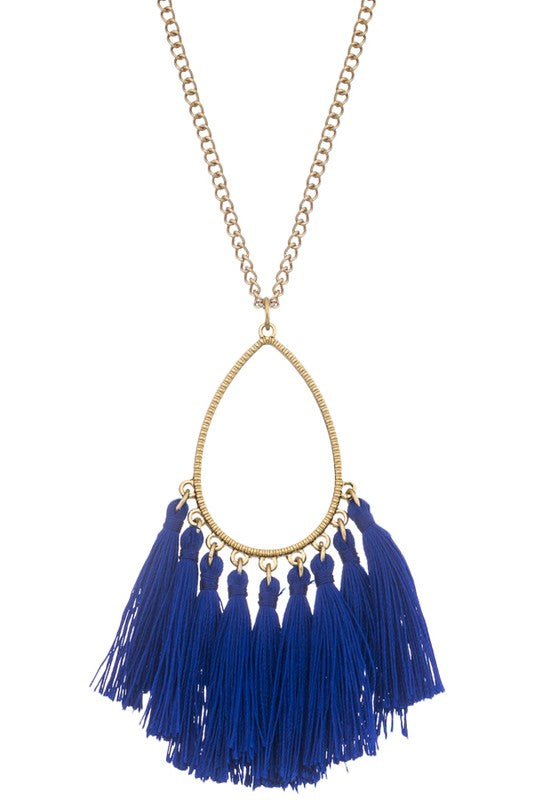 Multi-Tassel Necklace (available in 3 colors)