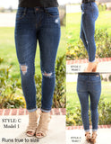 Distressed Medium Wash Jeans Style C