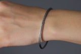 "The Journey Bracelet in Silvertone Alloy 8.5"" band"