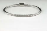 "The Journey Bracelet in Silvertone Alloy 7.5"" band"