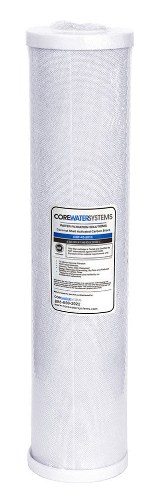 CWS-100: 10 micron 4.5 x 20 Carbon Block Filter - Core Water Systems