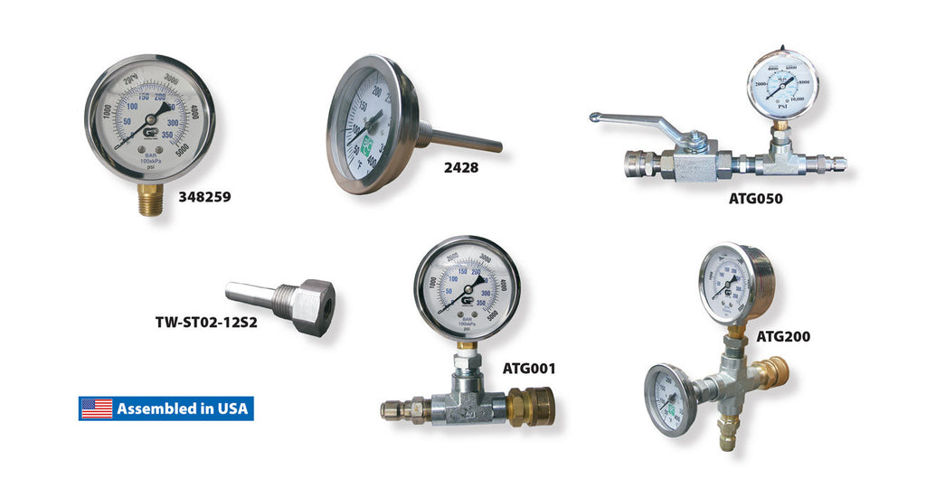 Gauges and Gauge Assemblies - Core Water Systems