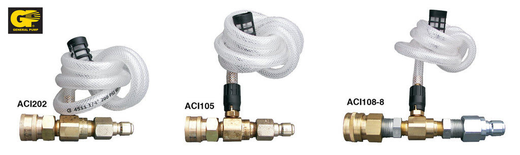 Downstream High Draw 20% Chemical Injector Assemblies - Core Water Systems