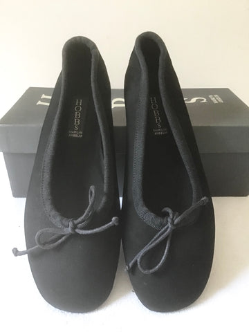 BRAND NEW IN BOX HOBBS BLACK SUEDE BALLET FLATS SIZE 4/37