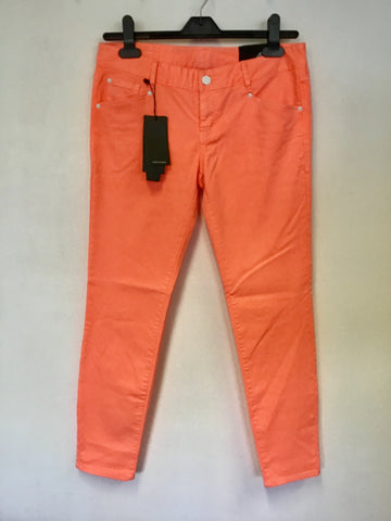 BRAND NEW ARMANI EXCHANGE NEON ORANGE LOW RISE SKINNY LEG JEGGINGS SIZE 4 UK 8