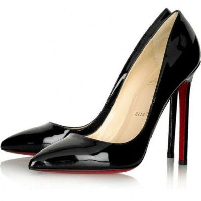 BRAND NEW CHRISTIAN LOUBOUTIN PIGALLE 120 BLACK PATENT LEATHER HEELS SIZE 37.5 FIT  UK 3.5/4