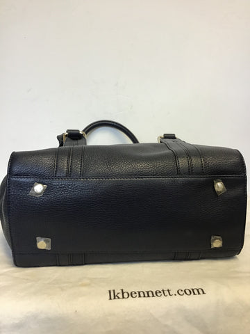 LK BENNETT EMMA NAVY BLUE LEATHER SHOULDER/HAND BAG