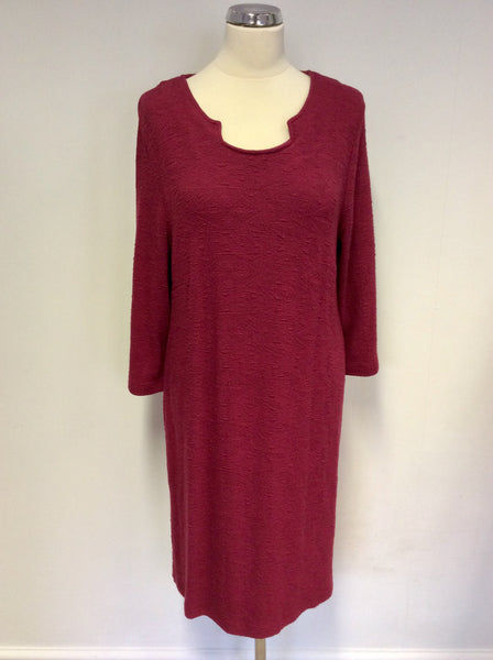BRAND NEW ADINI DEEP ROSEWOOD STRETCH SAVOY JERSEY DRESS SIZE 12