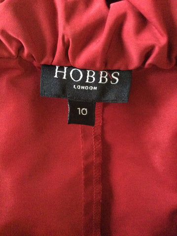 HOBBS RED SPECIAL OCCASION SHORT SLEEVE SHIRT SIZE 10