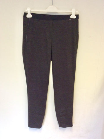 MARCCAIN DARK GREY STRETCH WOOL BLEND JEGGINGS SIZE N5 UK 14