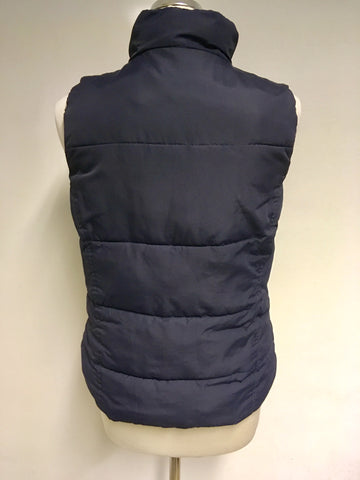 JOULES HIGHAM 3 DARK BLUE PADDED GILET SIZE 10
