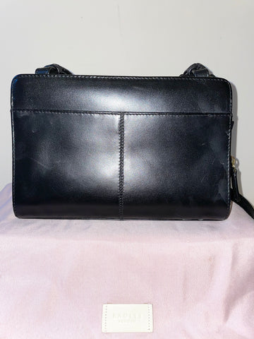 RADLEY BLACK LEATHER DETACHABLE SHOULDER STRAP CROSS BODY/ CLUTCH BAG & PURSE
