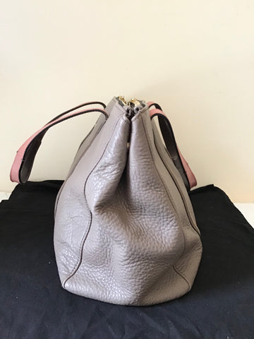 PAUL SMITH TAUPE BROWN LEATHER TOTE BAG