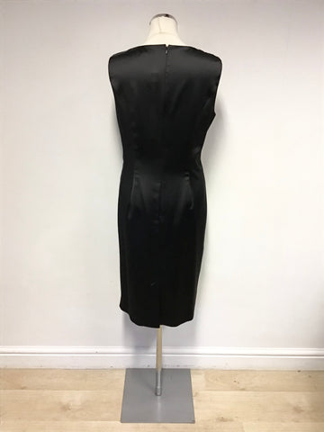 BRAND NEW ALEXON BLACK SATIN SPECIAL OCCASION DRESS SIZE 14