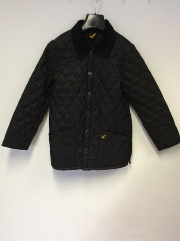 VOI JEANS BLACK KID HUNTER QUILTED JACKED SIZE M