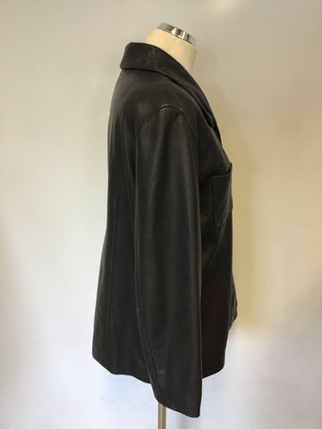 KENNETH COLE NEW YORK BLACK SOFT LEATHER SIZE L