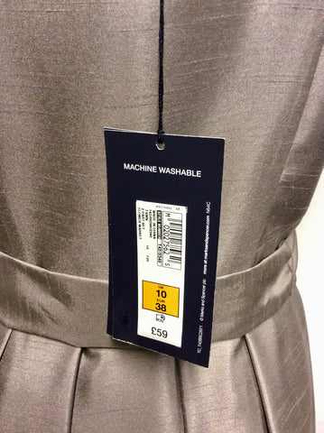 BRAND NEW MARKS & SPENCER FAWN SPECIAL OCCASION DRESS SIZE 10