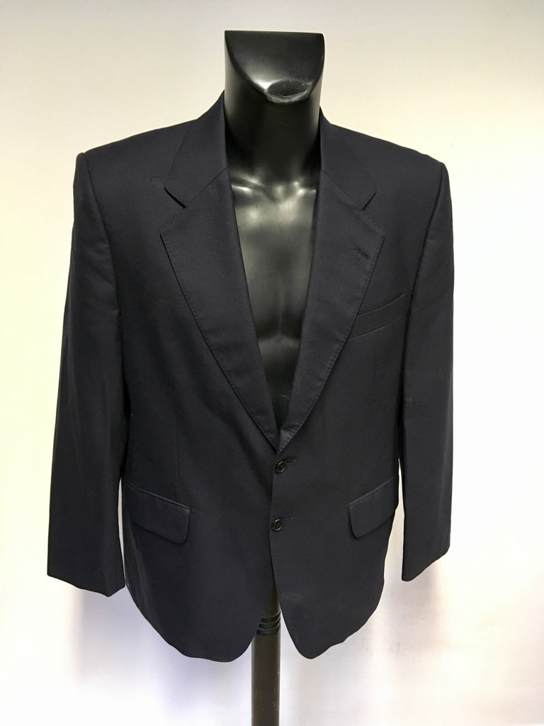 Austin Reed Navy Blue Locktons Wool Suit Jacket Size 40 S Whispers Dress Agency